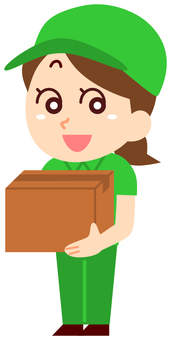 Courier company woman