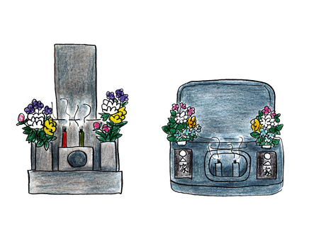 Two kinds of graves