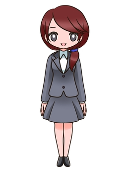 スーツの女性4