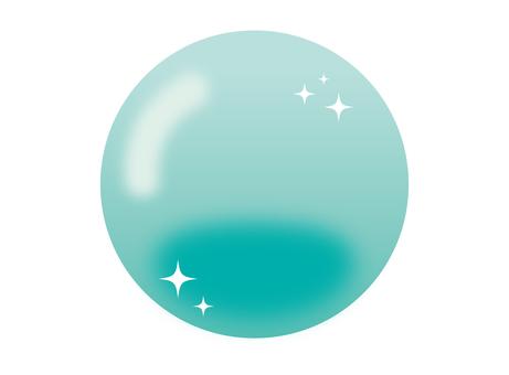 반짝이 장식 에메랄드 버블