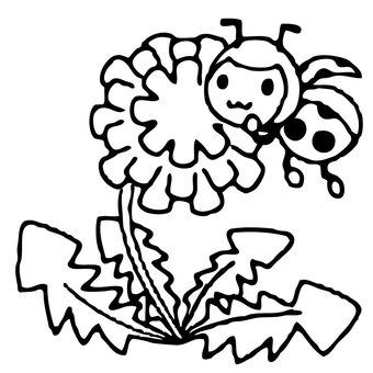 【Main Line Spring】 Ladybug Spring Spring Material 0017