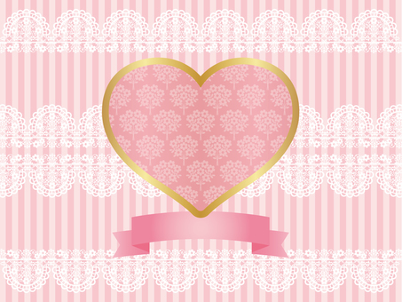 Heart's card (Coral Pink)