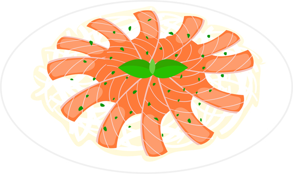 Salmon · scallops carpaccio