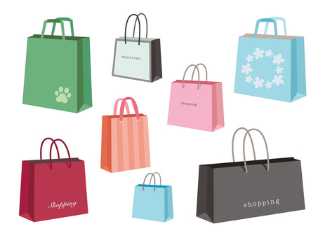 Various shopping bags