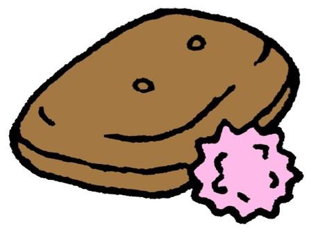 Dry bread and milk sugar
