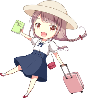 A girl traveling