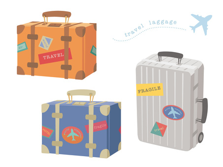 Various travel trunks