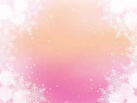 Snow, flower image, pink