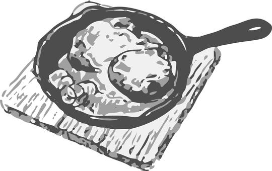 Black and white monochrome menu hamburg