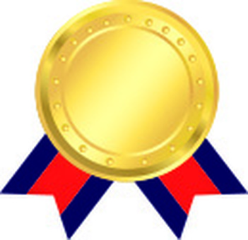 Gold Medal and Red Ribbon