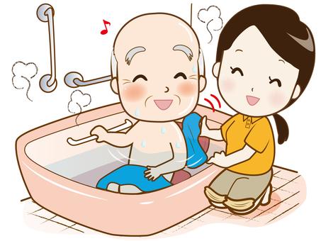 <Modified version> Senior care (bathing)