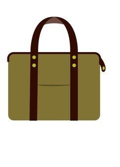 가죽 가방 (진한 갈색)