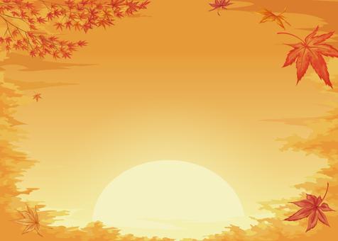Autumn scenery Sunset version