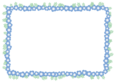 Nemophila, background, frame, A4 with vertical paint