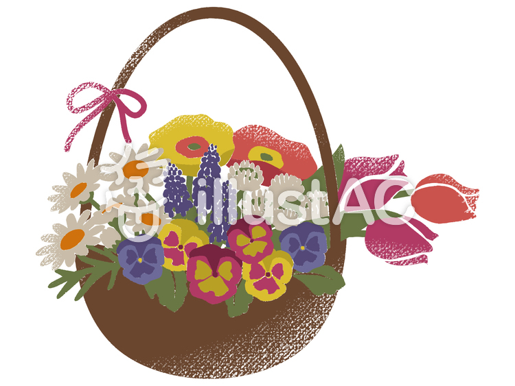 春の花かご001イラスト No 755826無料イラストならイラストac