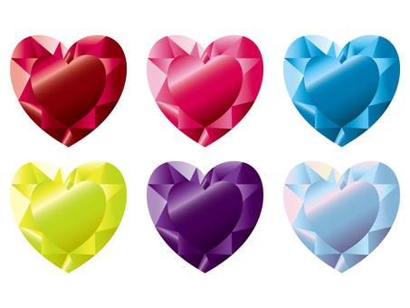 Heart crystal set