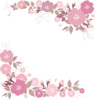 Free illustration Free material Sakura square frame frame