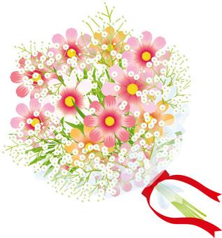 Cosmos & flower bouquet of grazing grass 6