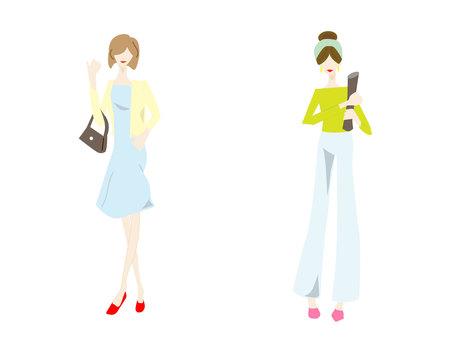 女性的插圖
