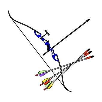 Archery's bow and arrow