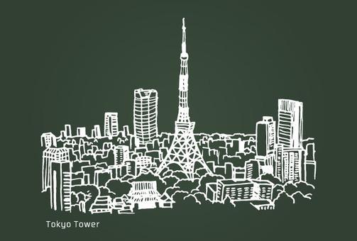 Landscape (Tokyo Tower · Blackboard)