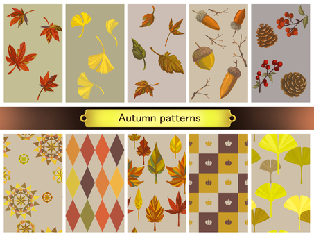 "Autumn pattern material ""Autumn leaves"""