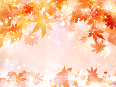 Snow and autumn leaves 1