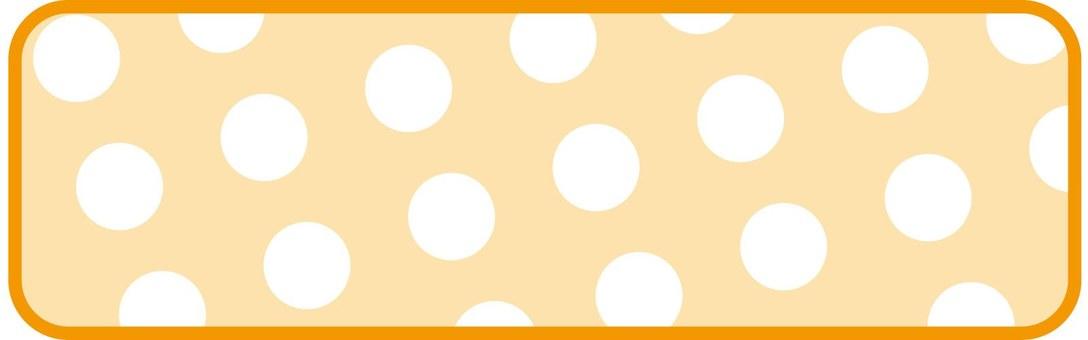 Polka dot frame (Orange)