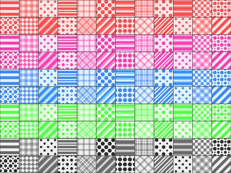 패치 워크 5 색 세트