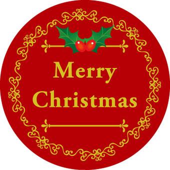 Christmas label circle