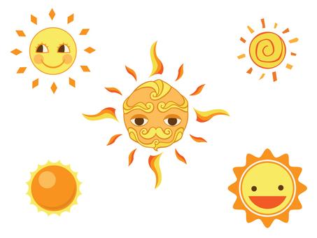 太陽のセット
