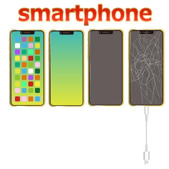 Smartphone smart glass broken illustration 3