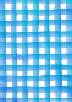 Watercolor painting check pattern texture blue vertical