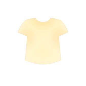Yellowish white T-shirt (no outline)