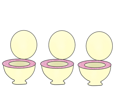 Only the toilet pink