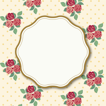 Rose flower frame