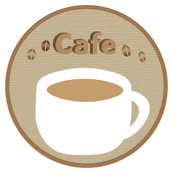 Coffee & amp; cafe logo (circle)
