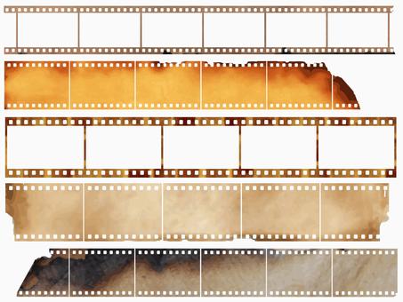 Burned camera film frame