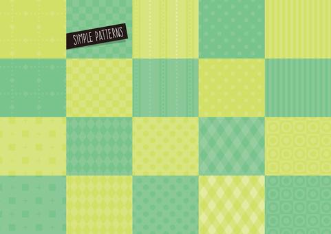 Simple pattern set GREEN