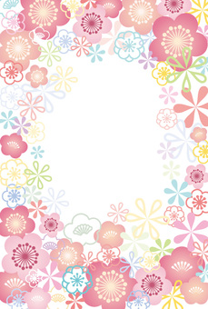 Japanese plum pattern frame