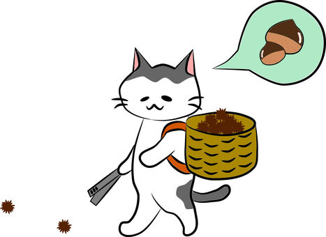 Picking up Nyanko's chestnut
