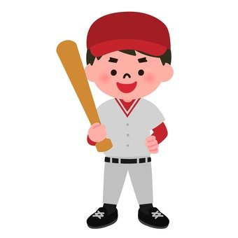 A boy I love baseball