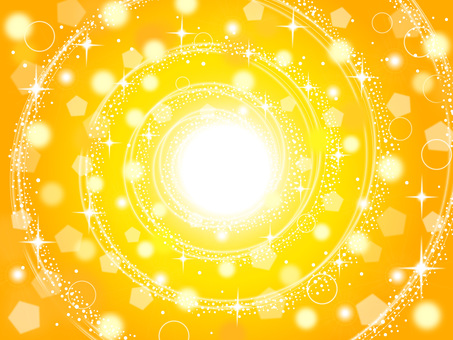 Yellow glitter background (circle)