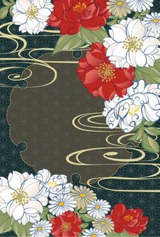 和柄の年賀状花