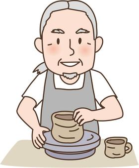 Grandpa to do ceramics
