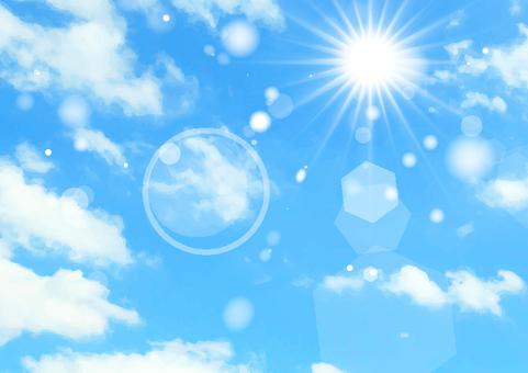 Blue sky and sun texture 8