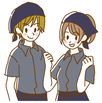 Male and female staff
