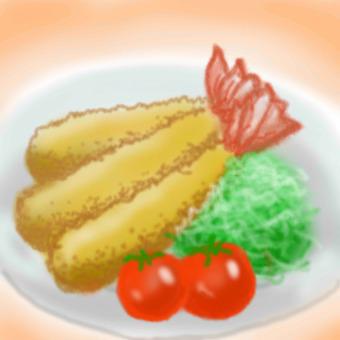 Shrimp with fry petit tomato