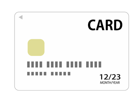 Cashless payment credit card