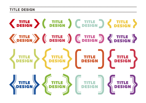 Ready-to-use title design